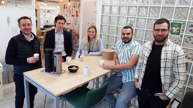 Une partie de l'équipe de Vertidiag en janvier 2020©Weréso Marseille