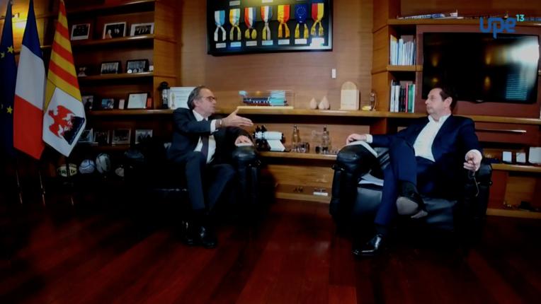Un Facebook live organisé par l'UPE 13. Avec Renaud Muselier et Philippe Korcia