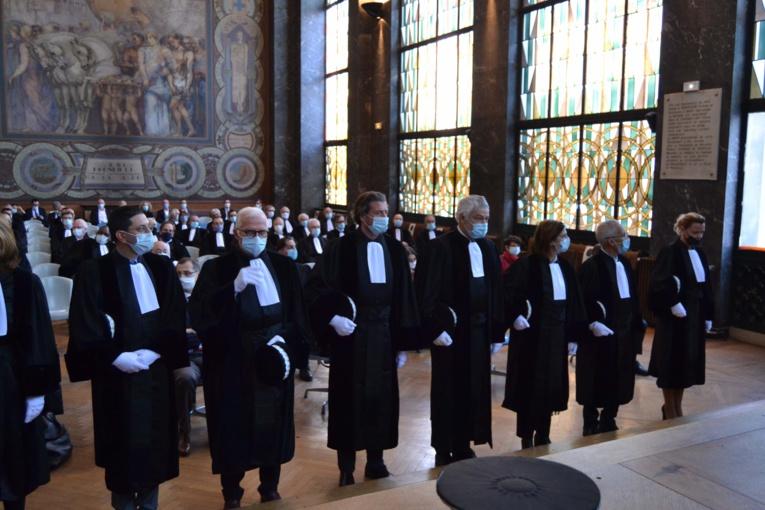 Installation officielle de neuf juges consulaires lors de la rentrée solennelle du tribunal de commerce de Marseille ce 14 janvier 2021. ©DR