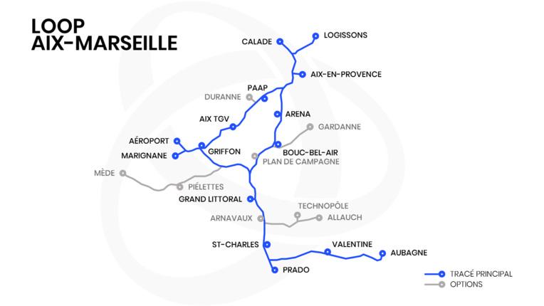 La Loop disposerait de quinze stations (carte : Loop AM)