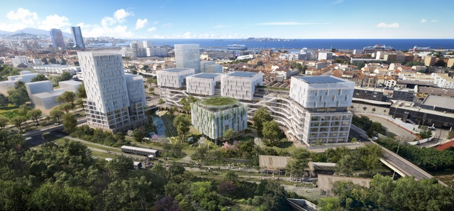 Theodora, un ensemble immobilier confié aux architectes Roland Carta et Eric Galligani ©Carta Associés & AER.
