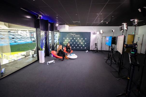 """L'Orange Vélodrome Live est dédié à la communication """"à distance"""" des entreprises. Photo©OM"""