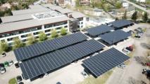 Des ombrières photovoltaïques pour assurer l'autoconsommation  énergétique