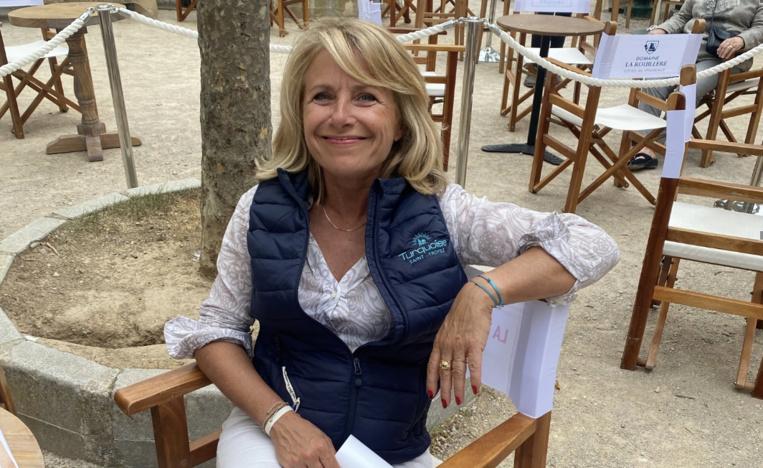 """Pascale Perez, l'une des parties prenantes de la manifestation """" les chefs à Saint-Tropez"""""""