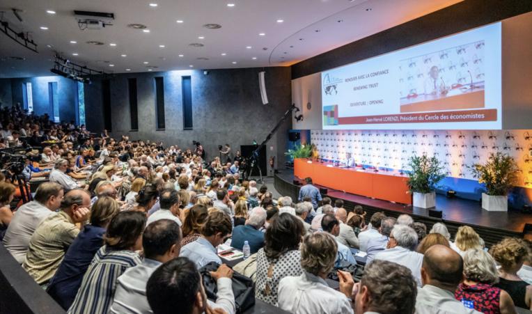 Un précédente édition des Rencontres économiques d'Aix-en-Provence. Cette année l'événement se tiendra sur 2 ha au Parc Jourdan. ©DR