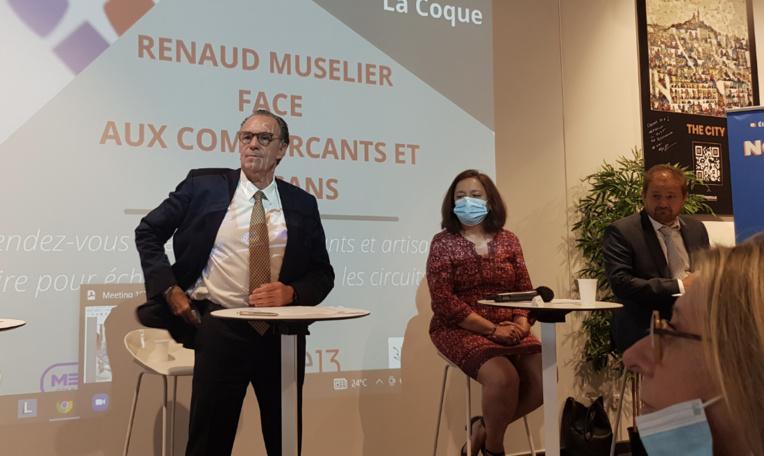 Audrey Lucchinacci a invité Renaud Muselier à s'exprimer face aux commerçants et aux artisans du département (photo: F.Dubessy)