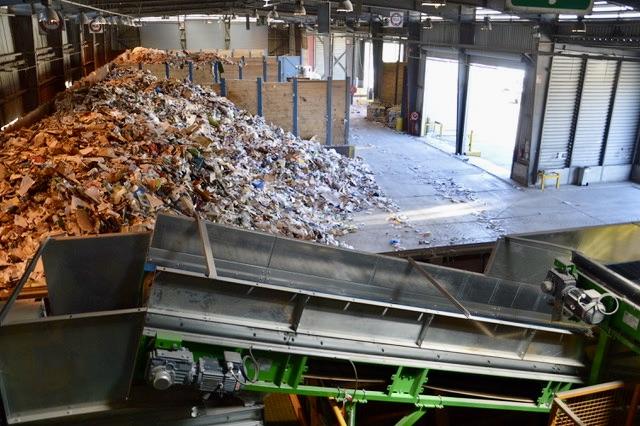 30% des tonnages triés aux Pennes Mirabeau proviennent du Pays d'Aix. ©NBC