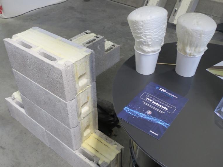Le bloc-béton isolé développé par Thermimur avec TPF Industrie (Photo JC Barla)