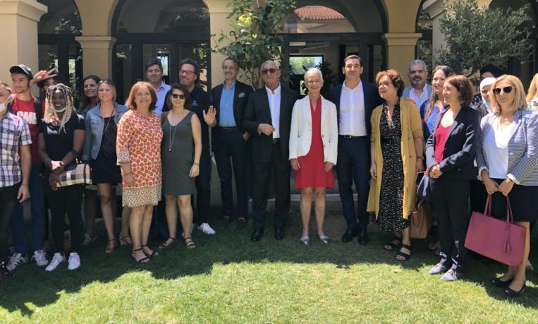 Lancement de la Fondation Proman le 9 juillet dernier, à Marseille au Cloître, en présence de Brigitte Klinkert, Ministre déléguée à l'insertion, aux côtés de Roland Gomez, président fondateur de Proman. Photo©Proman