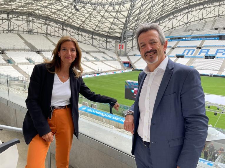 Jean-Michel Diaz délégué régional de Total Energies Méditerranée et d'Isabelle Patrier directrice des relations France et du développement régional de Total Energies.  ©NBC