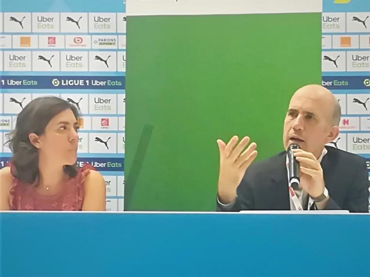 Marion Henriet (CVE) et Sébastien Soleille (BNP Paribas) ont évoqué les engagements respectifs de leurs groupes en transition énergétique mais pas que... (Photo JC Barla)