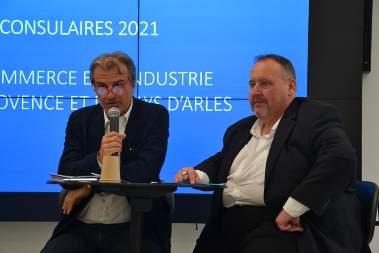 Les deux présidents sortants, Jean-Luc Chauvin (CCIAMP) et Stéphane Paglia (CCIPA) seuls candidats sur leur territoire pour un nouveau mandat (photo : F.Dubessy)