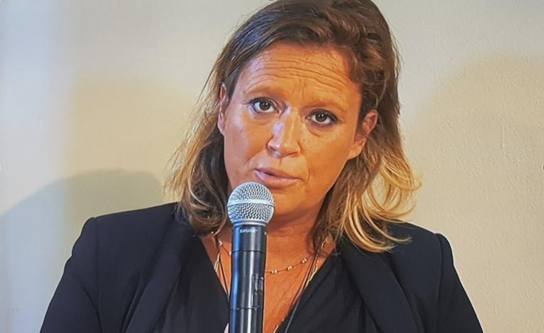 """La secrétaire d'État Olivia Grégoire parle de Provence-Alpes-Côte d'Azur comme d'une """"région locomotive"""" pour l'ESS (photo : F.Dubessy)"""
