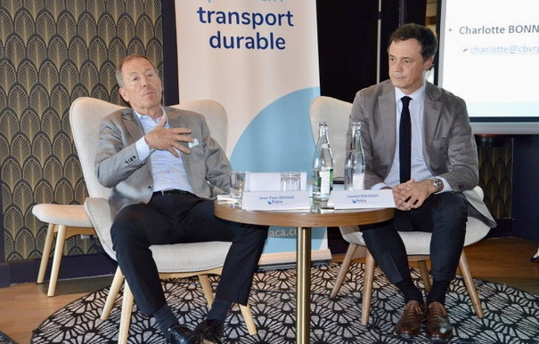 Jean-Paul Lieutaud, président de la FNTV en région PACA. Laurent Benvenuti, délégué régional de la Fédération nationale du transport de Voyageurs. ©NBC