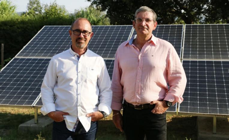Marc Guilloüet et Joël Oros, les dirigeants de Soleil du Sud, producteur d'énergie solaire responsable. Photo©DR