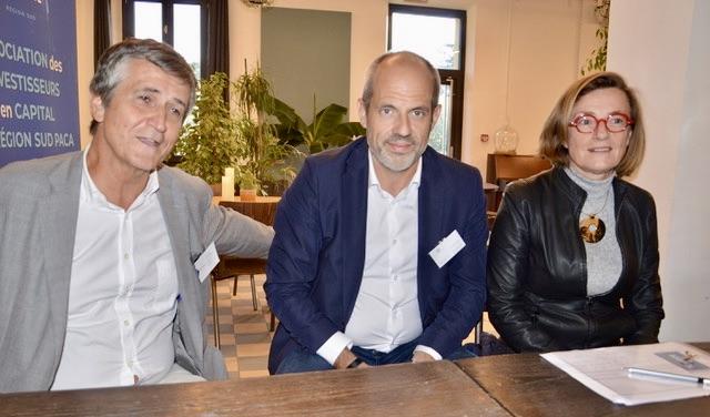 De g. à dte :  Franck Paoli (Connect Pro), Alexandre Flageul, directeur général de Sofipaca et Marie Desportes (Turenne Capital) respectivement président, sécrétaire et vice-présidente  d'Ambition Capital. ©NBC
