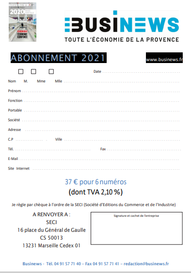 Bulletin d'Abonnement