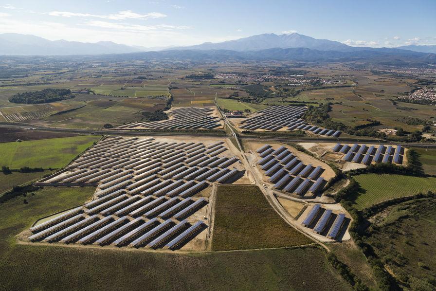 La centrale solaire de Vil-Canterrane à Rouillas, dans les Pyrénées Orientales © CVE