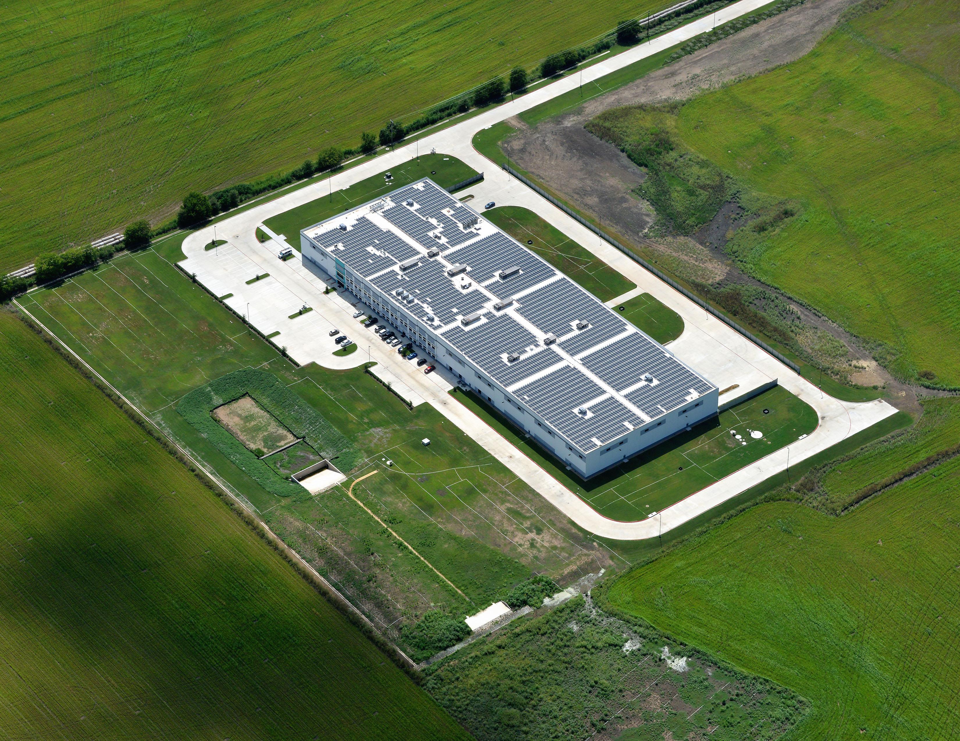 Vue aérienne de l'unité de production Capsum, à Austin