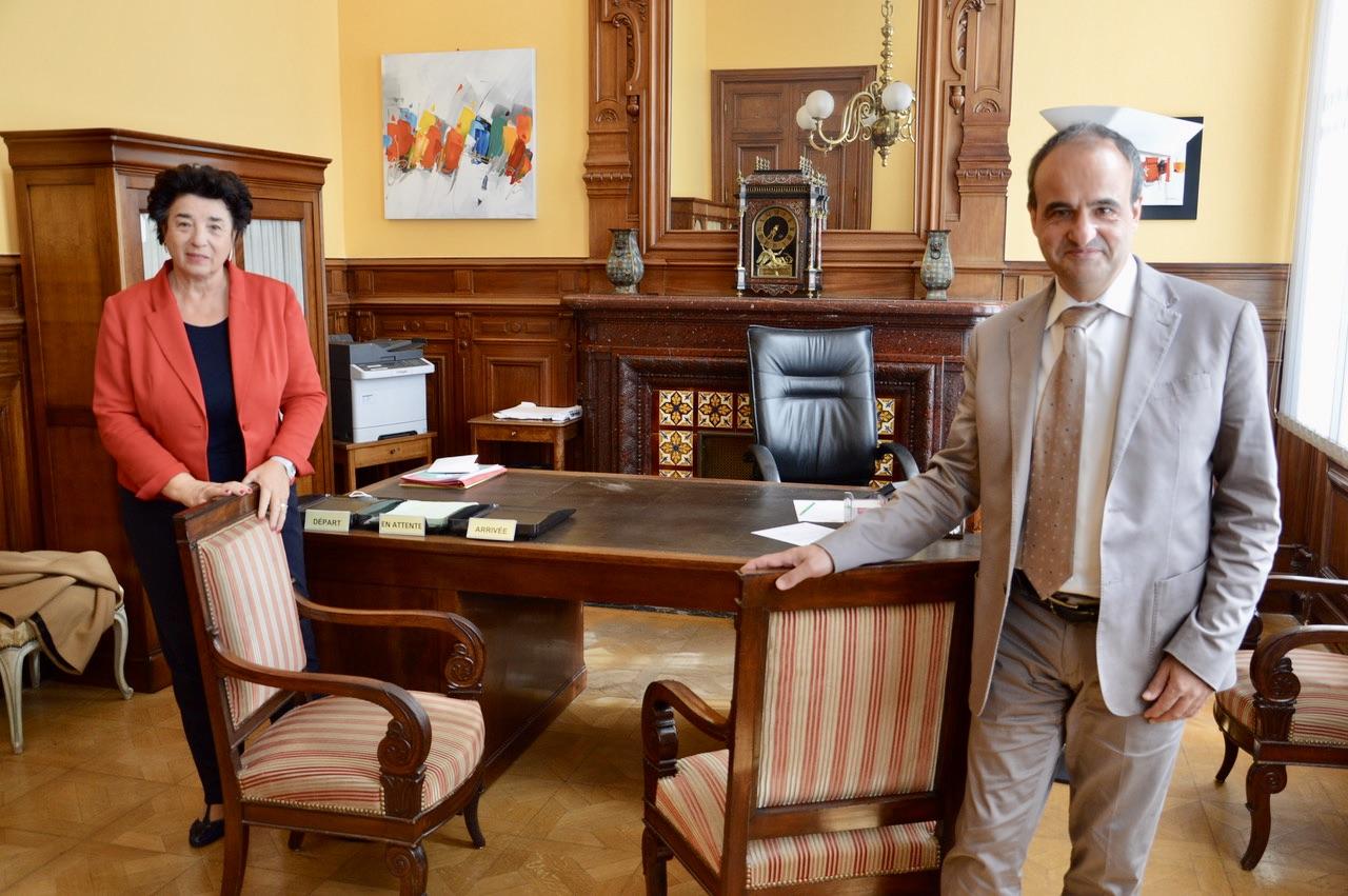 Jeannine Roghe, directrice régionale de la Banque de France et son adjoint aux affaires régionales Bernard Benitez.  ©N.B.C