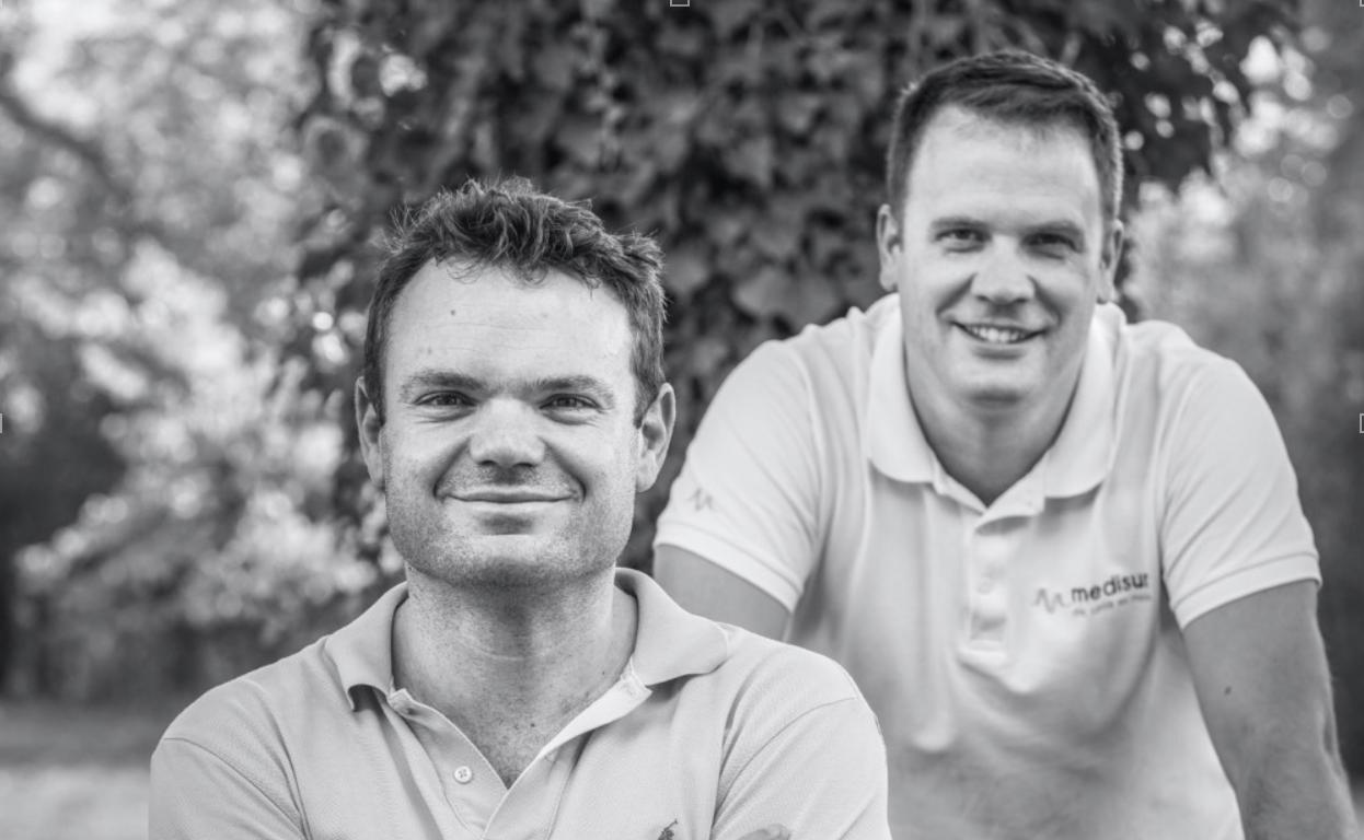 Edouard Rauline et Vincent Dailloux, cofondateurs de Medisur à Meyreuil.