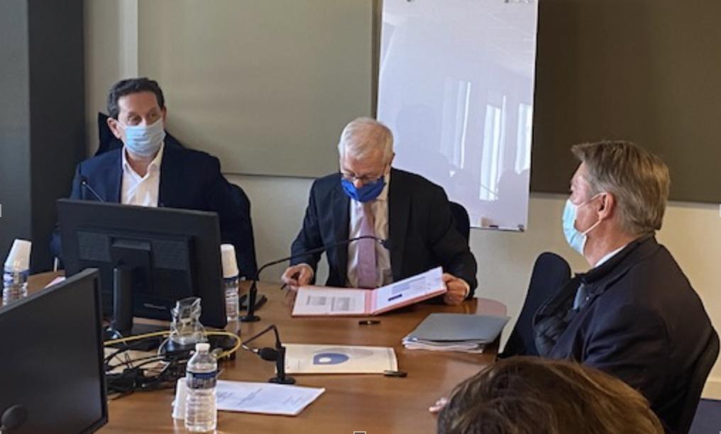 Philippe Korcia, Dominique Clément et Gérard Gazay signent une convention de partenariat entre l'Urssaf Paca et la métropole Aix Marseille Provence