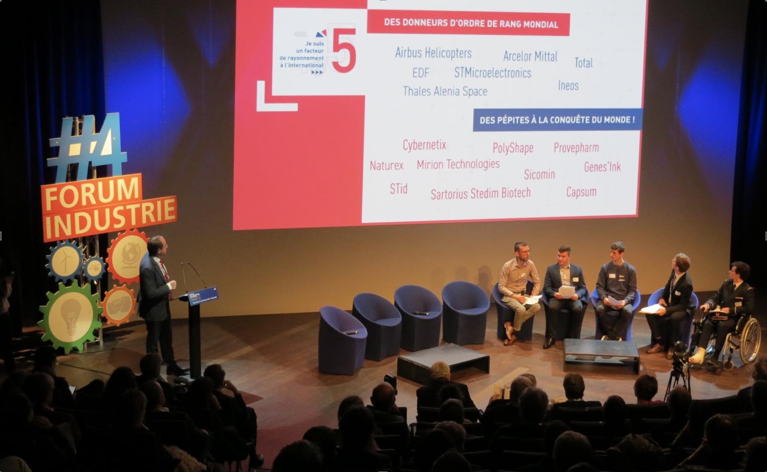 Pas de table ronde physique pour le Forum de l'Industrie, comme en 2019, mais un grand débat digital sur la réindustrialisation. (Photo JC Barla)