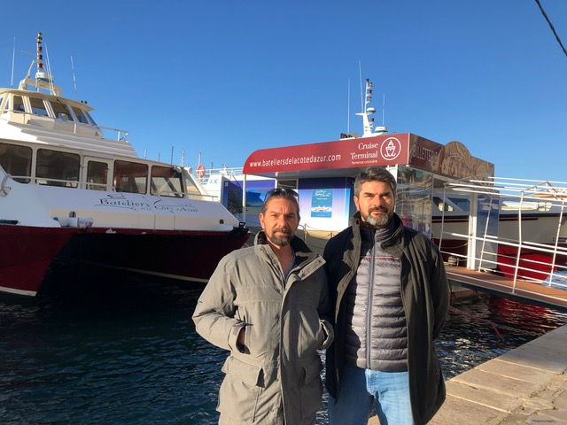 Yves et Christophe Arnal, gérants des Bateliers de la Côte d'Azur © DR
