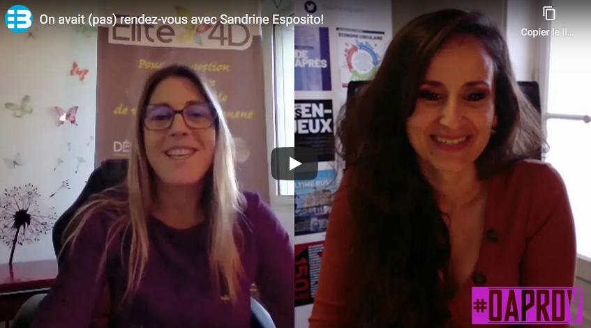 On avait (pas) rendez-vous avec Sandrine Esposito!