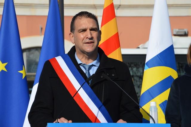 Hervé Granier, le nouveau maire de Gardanne inaugurant le pôle d'échange multimodal de Gardanne le 6 janvier s'est exprimé sur l'avenir de son territoire marqué par la fermeture de la centrale à charbon et la cession d'Alteo demain. ©NBC