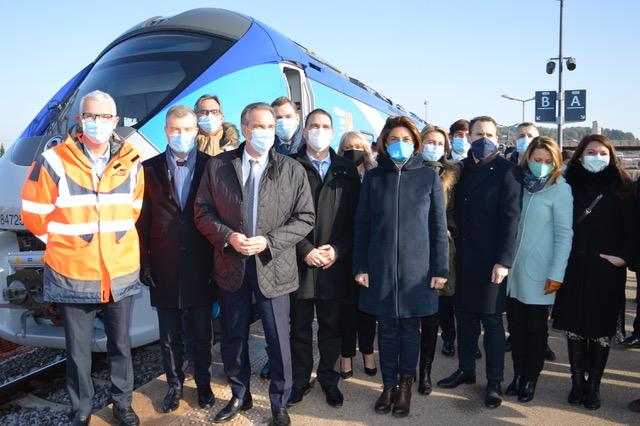 Photo : Le 6 janvier 2021, s'est tenue l'inauguration du  Pôle d'échanges multimodal de Gardanne. ©NBC