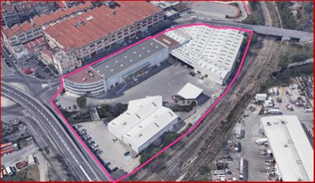 Une vue du site du futur campus Théodora aux Aygalades © DR