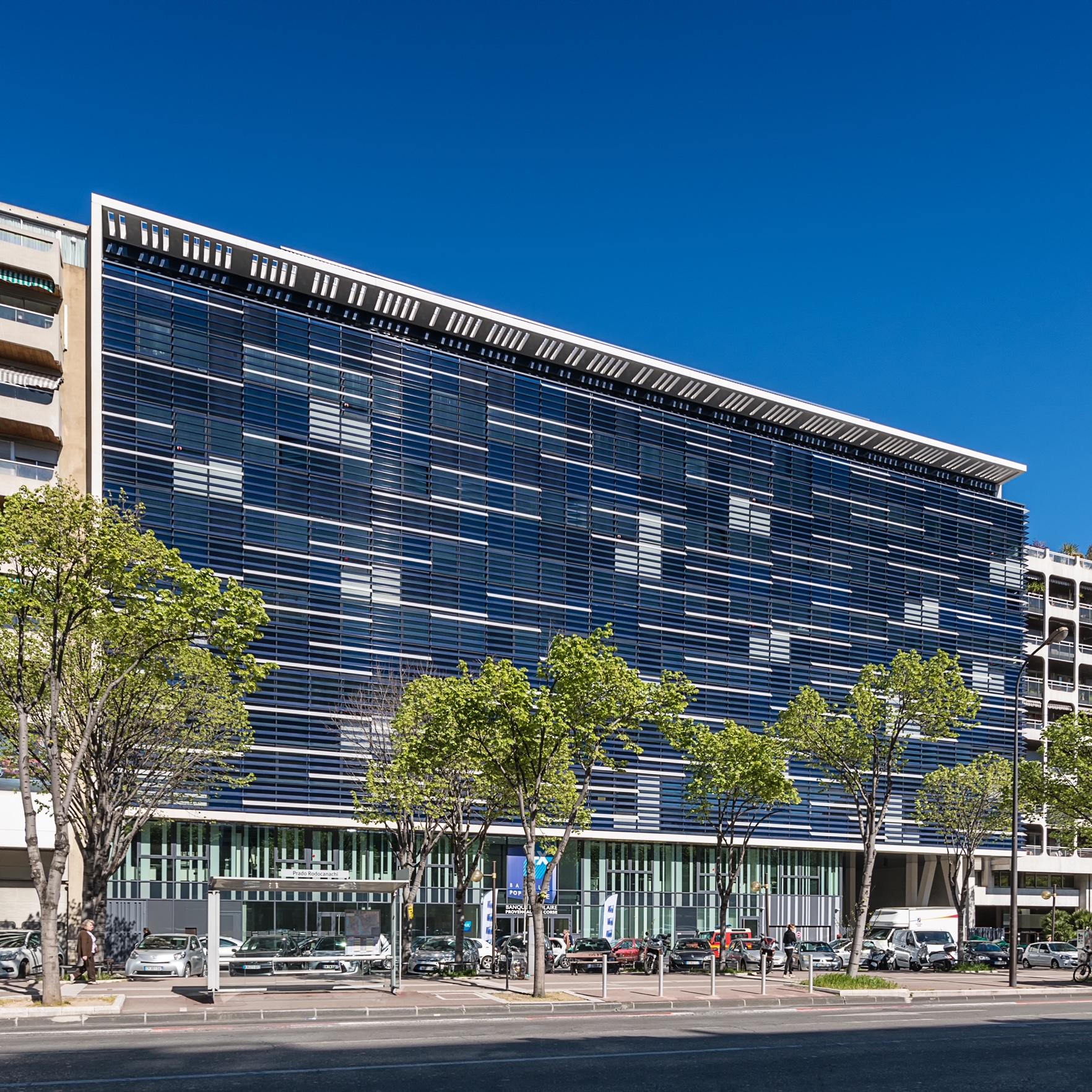 Le site  de la Banque Populaire Méditerranée à Marseille©Pozzo