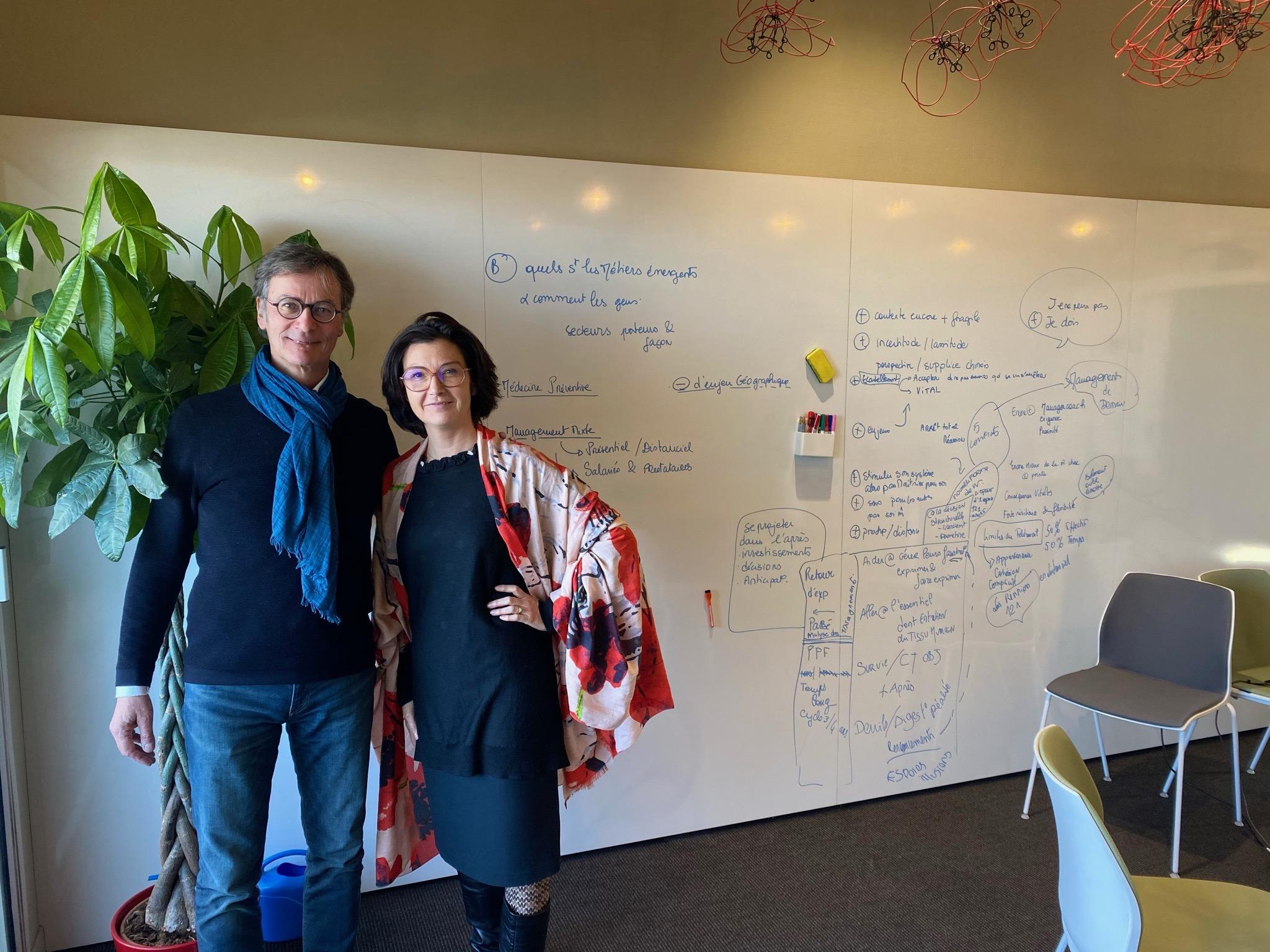 Eric Perret et Caroline Couturier du Cabinet Renaissance Conseil