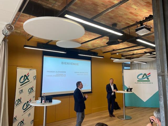 Franck Alexandre et Serge Magdeleine présentent les résultats du Crédit Agricole Alpes Provence