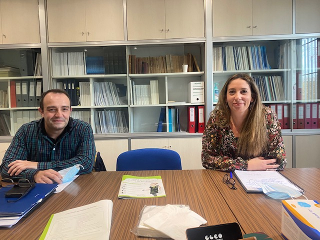 Miguel Pereira, responsable du secteur de Vitrolles et Camille Pratesi, DRH chez Proclair