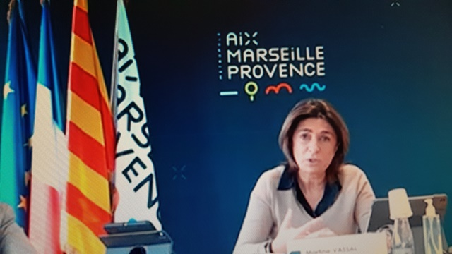 Martine Vassal met les bouchées doubles pour aider les restaurateurs (photo :F.Dubessy)