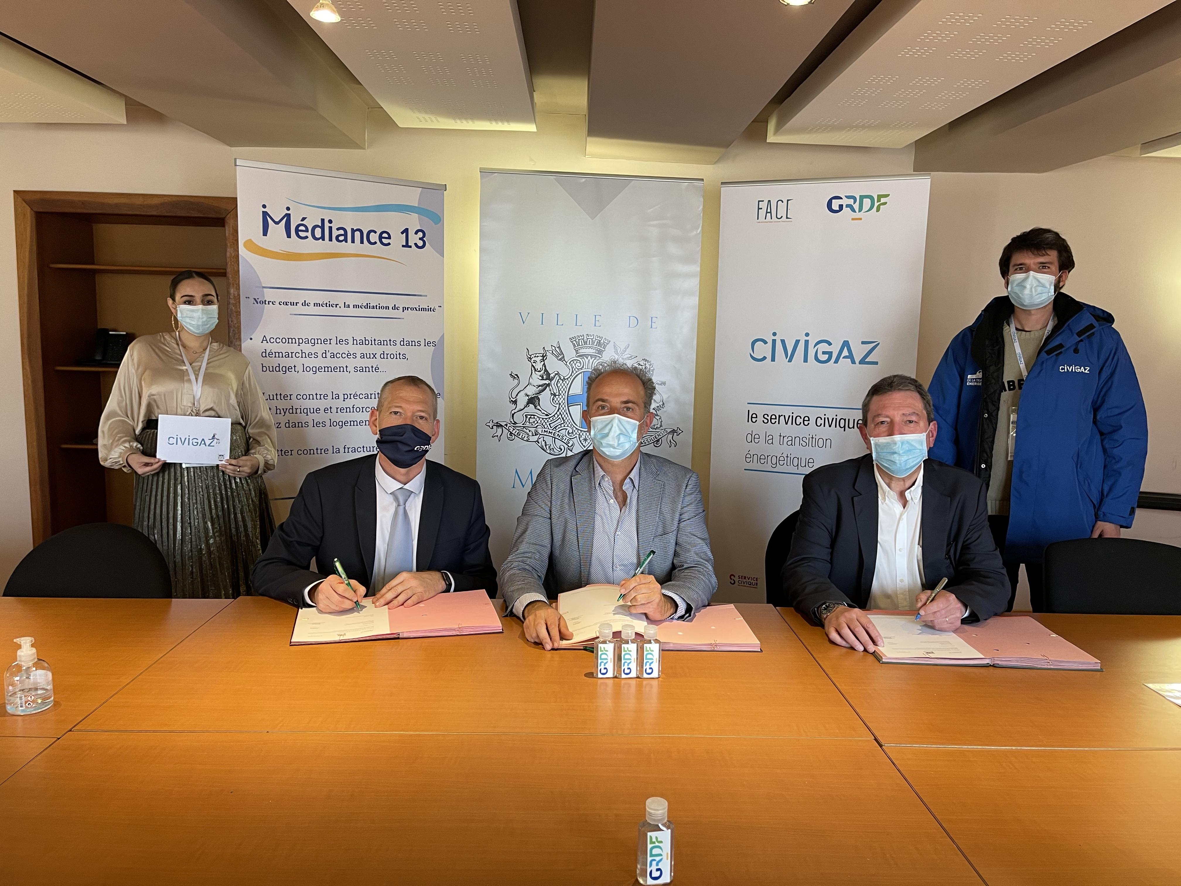 Lutte contre la précarité énergétique : la Ville de Marseille, l'association Médiance 13 et GRDF ont renouvelé ce mardi 9 mars l'opération CIVIGAZ pour les deux prochaines années.