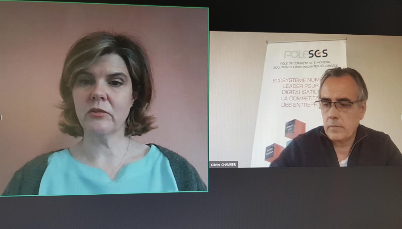 Noémie Keller d'In Extenso et Olivier Chavrier, directeur général du pôle SCS, ont lancé l'Observatoire du numérique en région Provence-Alpes-Côte d'Azur (photo : F.Dubessy)