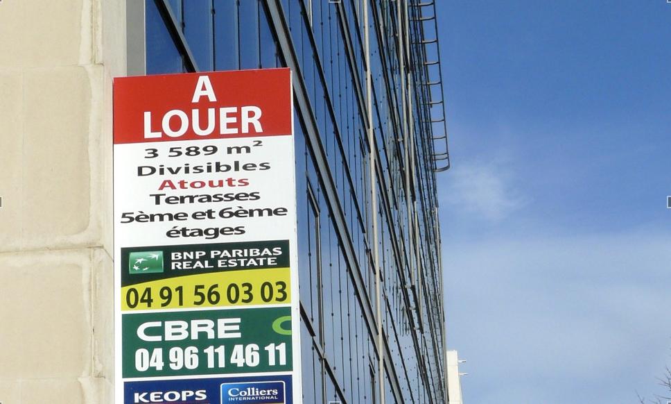 Le marché immobilier tertiaire d'Aix-Marseille en souffrance au début 2021 © JP
