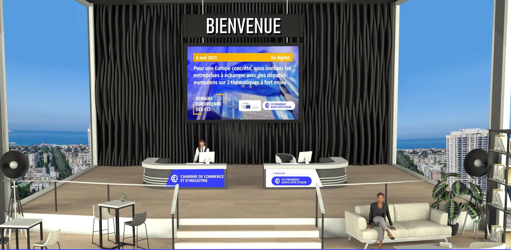 Le Sky Center de la tour la Marseillaise accueillera la plate-forme digitale destinée à répondre aux chefs d'entreprises (photo : CCI Provence Alpes Côte d'Azur)