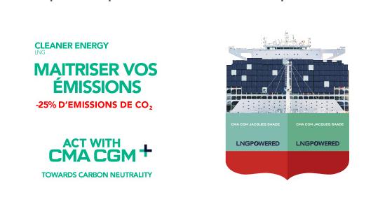 CMA CGM offre à ses clients une solution leur permettant d'améliorer leur performance environnementale avec le nouveau produit biométhane