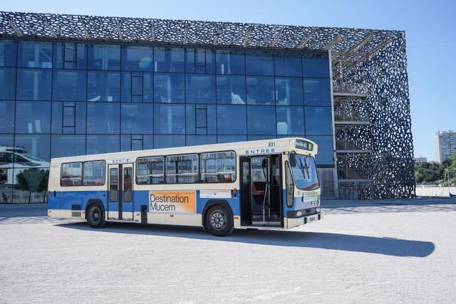 Le bus de collection « Destination Mucem » ©Julie Cohen - Mucem