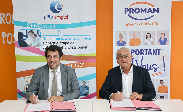 De g à dr : Pascal Blain et Roland Gomez lors de la signature du partenariat©DR