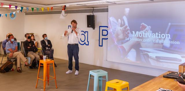 Cyril Zimmermann présentant le projet La Plateforme©Luc Van Der Meijden