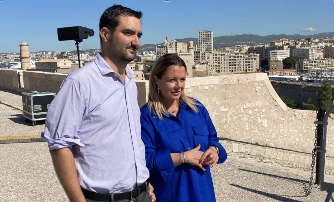 Alexandre Barthélémy en charge de l'événementiel de Medinsoft et Stéphanie Ragu, sa présidente au fort d'Entrecasteaux