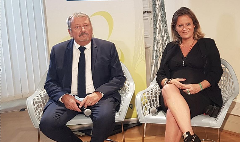 Denis Philippe, président de la CRESS Paca, et Olivia Grégoire inaugurent officiellement la Maison de l'ESS (photo : F.Dubessy)