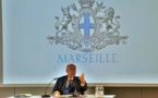 Jean-Claude Gaudin avait indiqué travailler sur des mémoires lors des derniers voeux à la presse en tant que maire de Marseille (photo : F.Dubessy)